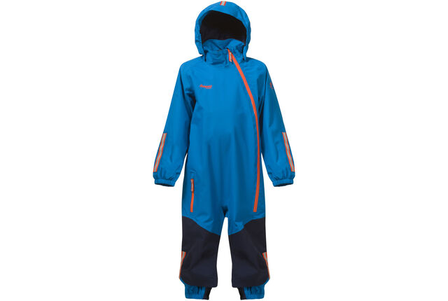 dd5834c6 Bergans Kids Lilletind Coverall LT Sea Blue/Navy/Koi Orange | Gode ...